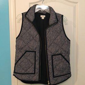J. Crew Black & White patterned vest size XS